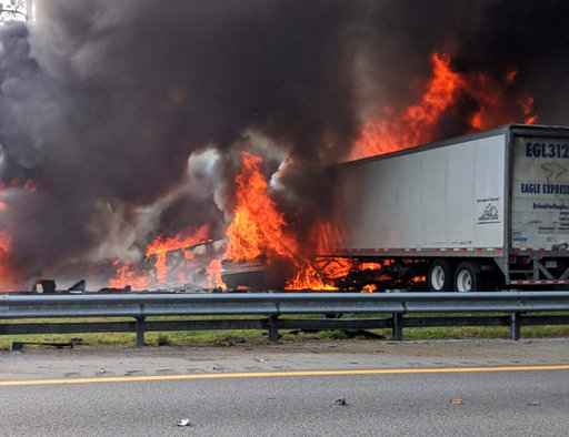 At least 6 killed after fiery crash, fuel spill on Florida highway