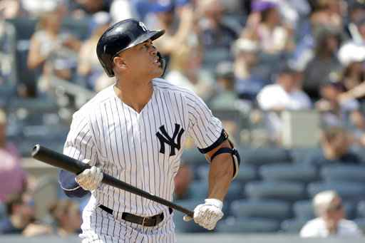 Stanton homers as Yankees beat Blue Jays 11-6