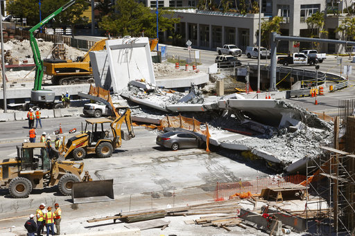 4 people found dead in rubble of Florida bridge collapse