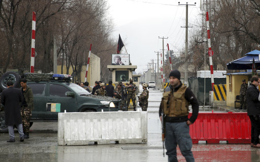 Officials say suicide bomber kills 2 in Afghan capital
