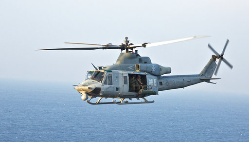 US sailor hit by helicopter blade in critical condition