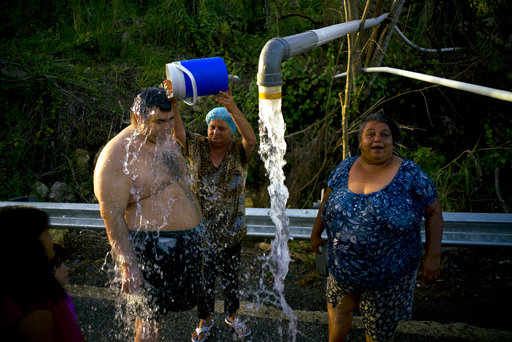 Raw sewage contaminating waters in Puerto Rico after Maria