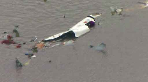 Boeing 767 Cargo Jetliner With 3 Aboard Crashes Into Bay Near Houston