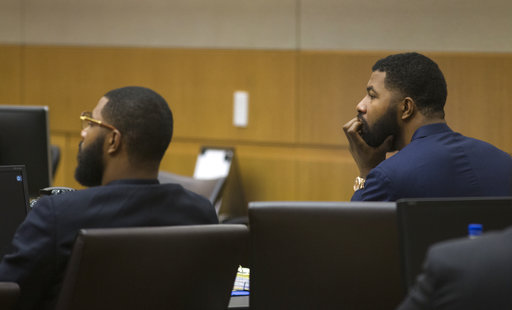 The Latest: Jury begins deliberations in NBA players' trial