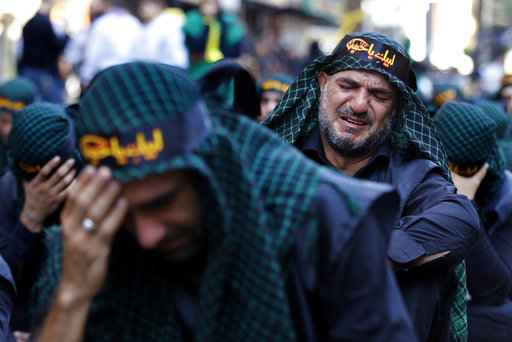 Shiites across Mideast mark Ashoura, mourning saint's death