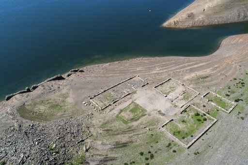 Drought reveals remains of German 'Atlantis' in lake