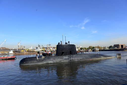 Argentina steps up search for missing submarine
