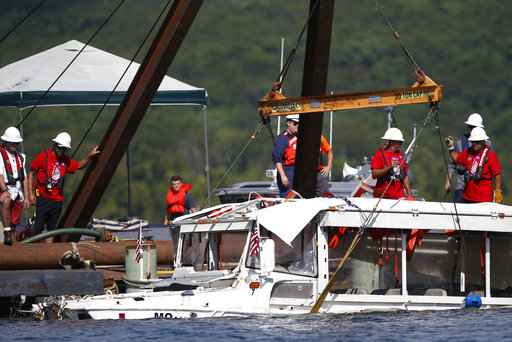 Coast Guard to raise duck boat that sank in storm killing 17