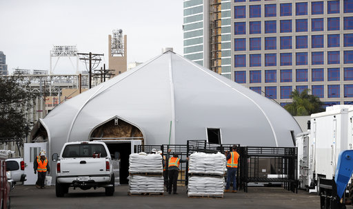 Tents considered blessing for homeless in San Diego