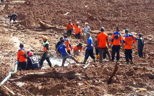 Rain hampers search for Indonesian landslide victims, 7 dead