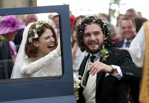 Rose Leslie Wears Lace Dress to Her and Kit Harington's Wedding