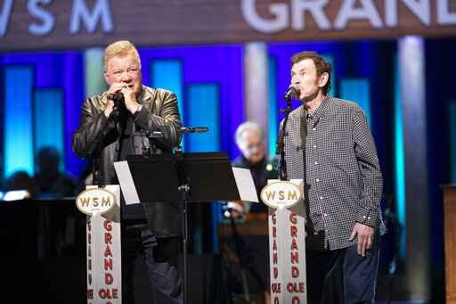 Actor William Shatner debuts country songs at Grand Ole Opry