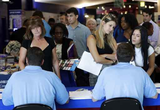 US adds a solid 213,000 jobs unemployment up to 4 pct