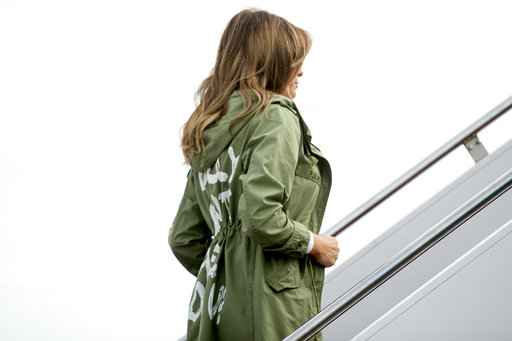 First lady's 'I don't care' jacket causes a stir