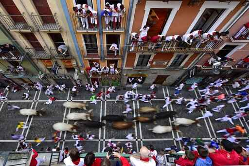 1 gored, 5 injured in race with bulls at Pamplona festival