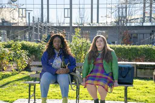 This image released by Hulu shows Lolly Adefope, left, and Aidy Bryant in a scene from the Portland-set comedy series