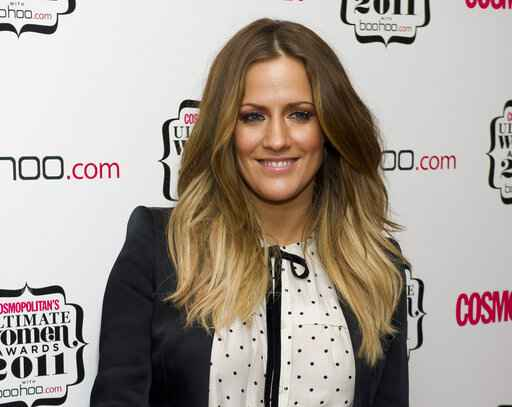 FILE - In this file photo dated Thursday, Nov. 3, 2011, British TV personality Caroline Flack arrives for the Cosmopolitan Ultimate Women of the Year Awards in London.  The host controversial reality TV show