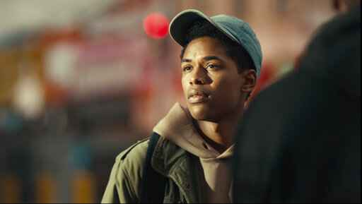 This image released by Netflix shows Kevin Harrison Jr. in a scene from