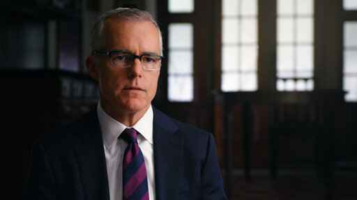This image released by HBO shows Andrew McCabe in a scene from the documentary