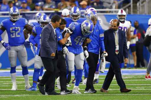 Lions lose Davis, Ragnow to injuries and game 24-20 to Bills