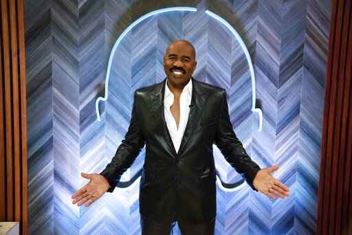 Steve Harvey poses for a portrait on Thursday, Sept. 17, 2020 in Atlanta. Harvey says his daytime talk show being canceled by NBC opened up new doors with Facebook Watch. The comedian launched