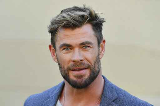 Actor Chris Hemsworth attends at a press conference to announce the new
