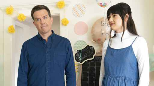 This image released by Bleecker Street shows Ed Helms, left, and Patti Harrison in a scene from
