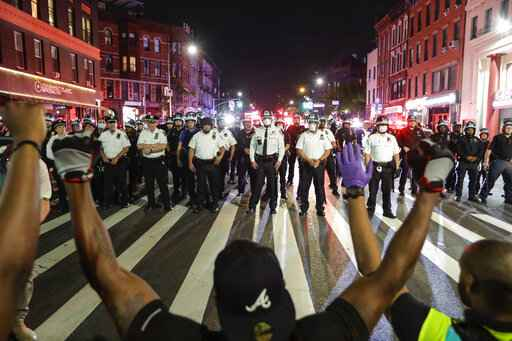 NYC calmer as Buffalo police draw ire for protester injury