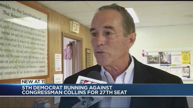 Collins faces fifth Democratic Challenger