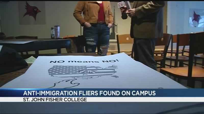 immigration fliers spark outrage at st  john fisher
