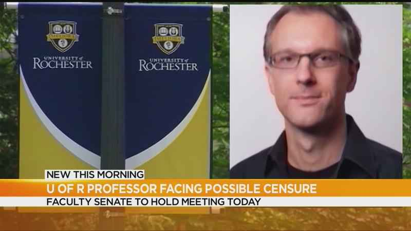 U of R professor facing possible censure from school's Faculty Senate