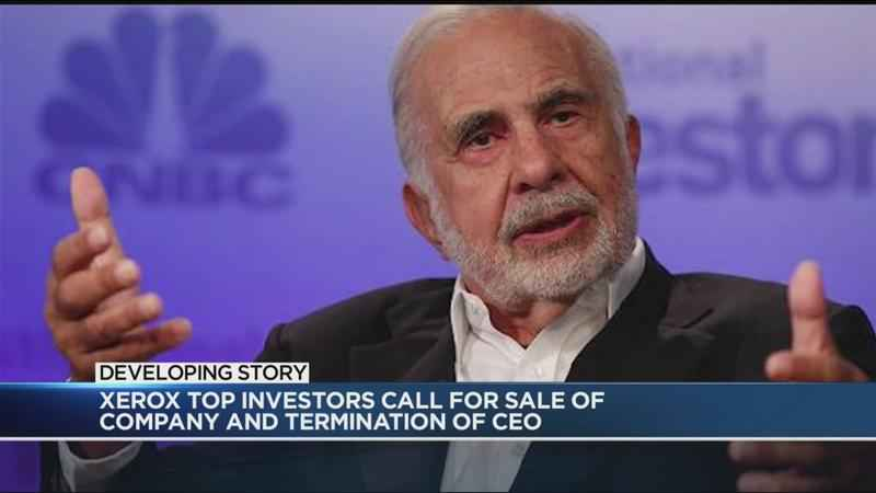 Xerox top investors call for sale of company and termination of CEO