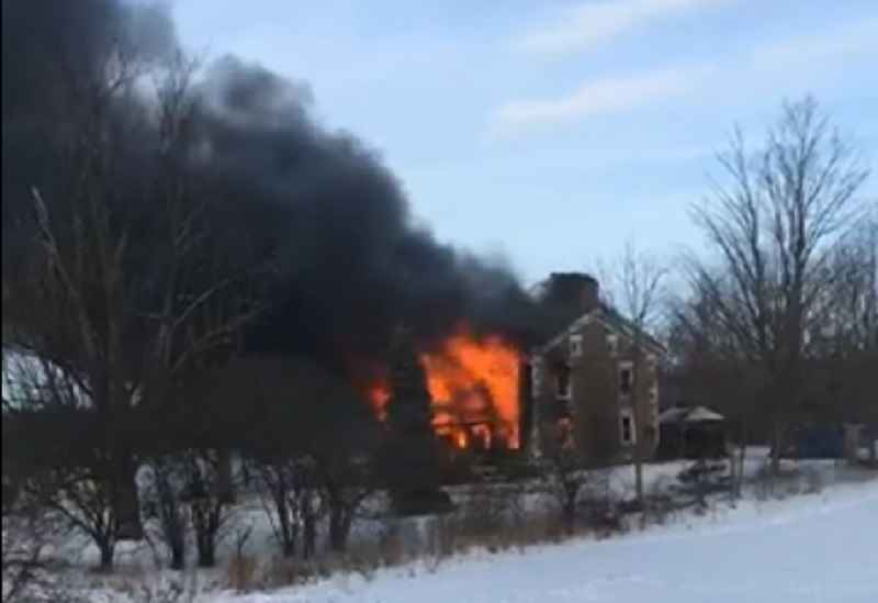 Deputies: Junius home is 'a total loss' after massive fire