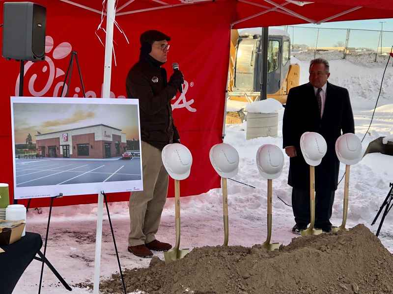 Chick-fil-A celebrates groundbreaking in Greece