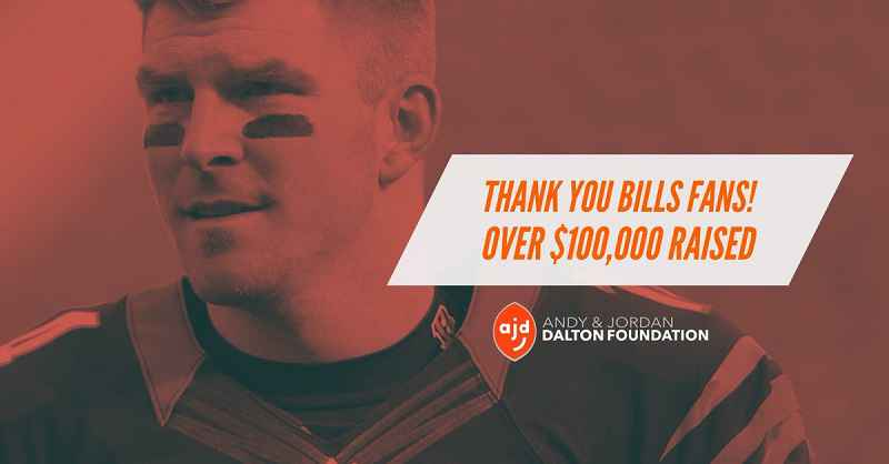 Andy Dalton thanks Bills fans after donations to his charity hit $170K