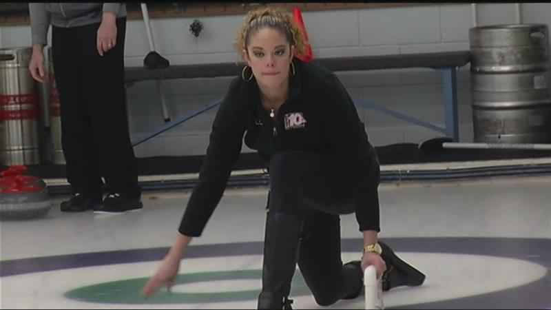 Rich and Breland compete in curling