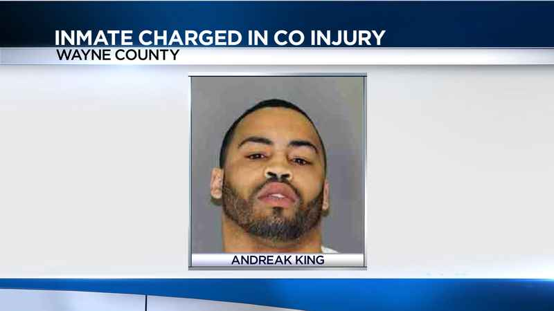 Wayne County inmate charged in officer's broken finger