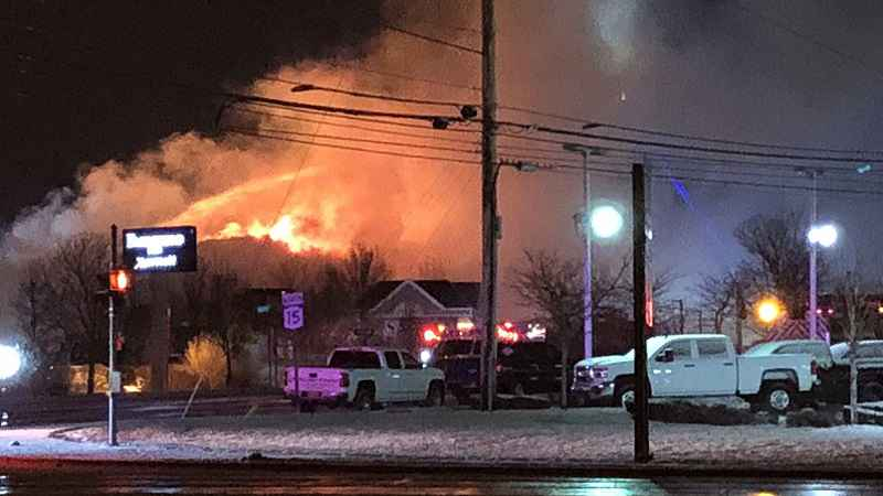 Three-alarm fire burns Henrietta's former Country Inn and Suites