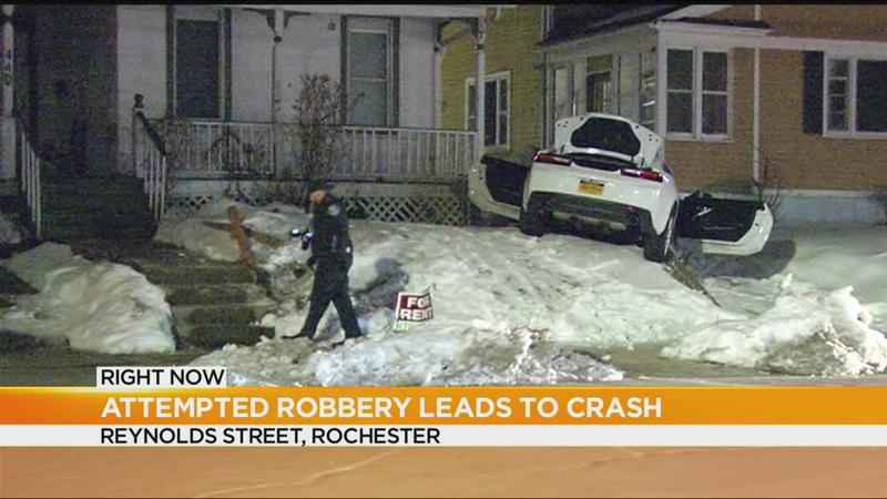 Attempted armed robbery leads to crash on city's southwest side