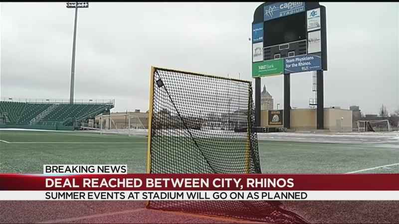 City reaches agreement with Rhinos over stadium lease