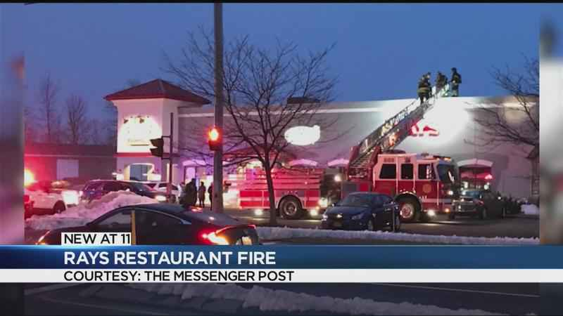 Firefighters put out flames at Ray's Restaurant in Canandaigua