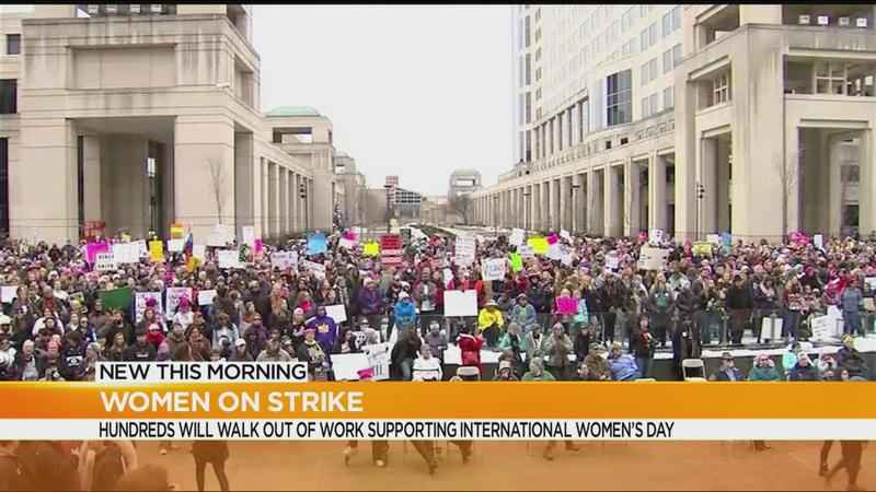 Women march on International Women's Day