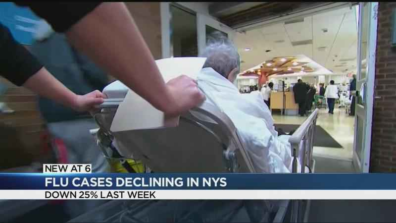 Flu cases drop in New York State for second-straight week