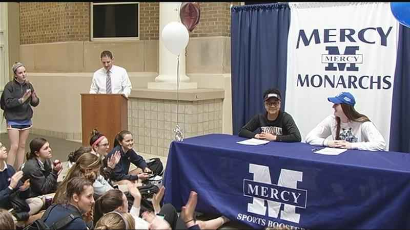 Two Mercy athletes commit to college basketball