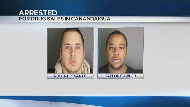 Two arrested for drug sales in Canandaigua