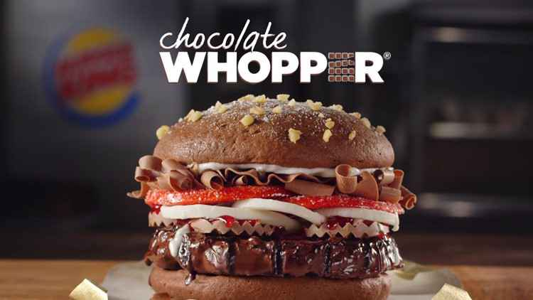 Chocolate Whopper? Burger King and others unleash fake products for April Fools' Day