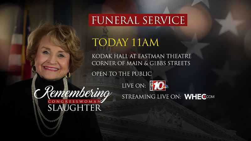 LIVE STREAM: Funeral services for Rep. Louise Slaughter