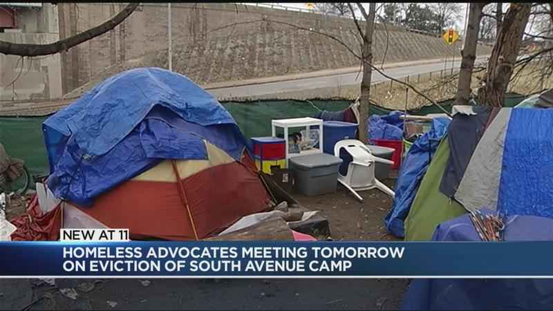 Advocates to discuss removal of homeless encampment