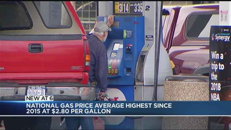 Gas prices reach highest level since 2015