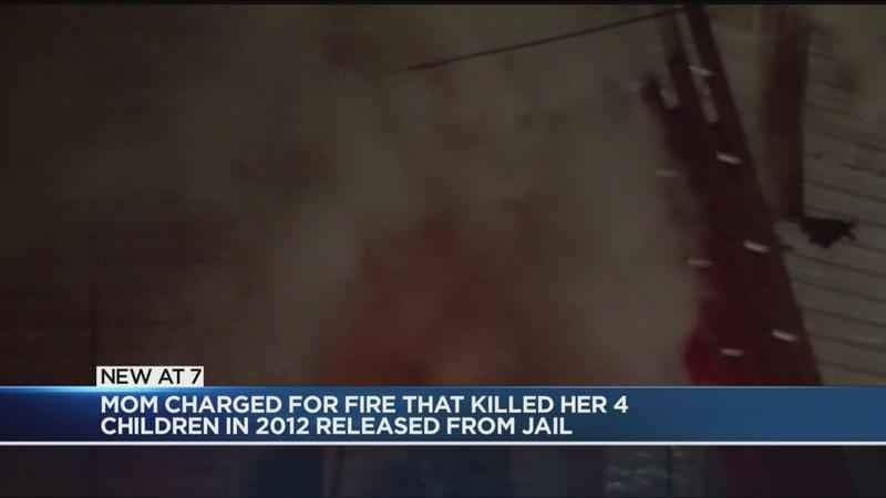Mother convicted in fire that killed her four children released from prison